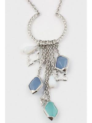 Колье Inesse M. Цвет: серебристый, бирюзовый, голубой