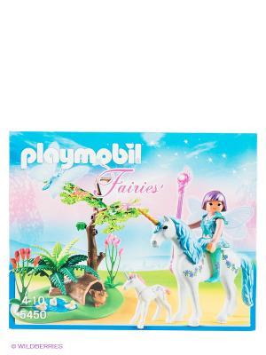 Набор Фея Акварелла на лугу с Единорогом Playmobil. Цвет: зеленый, коричневый, фуксия, желтый, белый