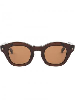 Солнцезащитные очки Glam Hakusan. Цвет: коричневый