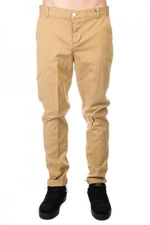 Штаны прямые  Chino Camel CLWR. Цвет: бежевый