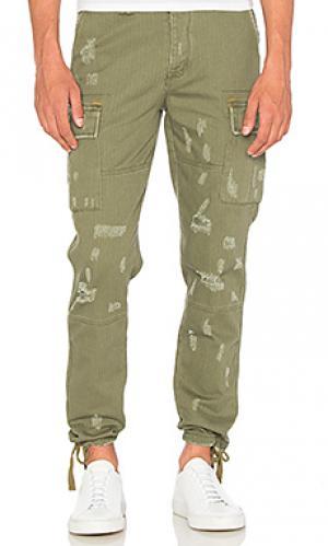 Брюки с карманами карго I Love Ugly. Цвет: военный стиль