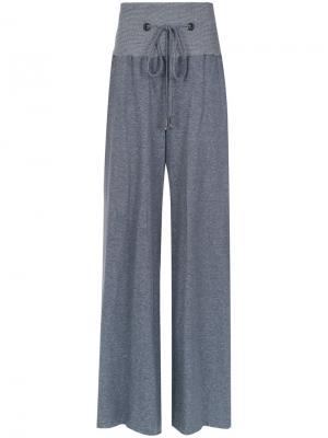 Wide trousers Giuliana Romanno. Цвет: синий
