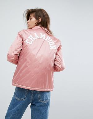 Champion Спортивная куртка. Цвет: розовый