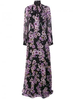 Long floral dress Giambattista Valli. Цвет: чёрный