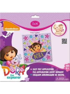 Набор для создания аппликации из фетра Маленькая путешественница Делай с мамой. Цвет: фиолетовый