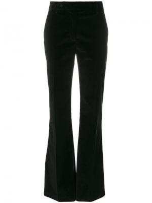 Расклешенные бархатные брюки Prada. Цвет: чёрный