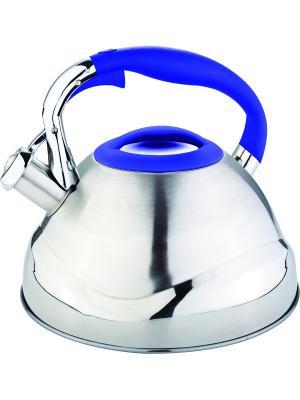 Чайник со свистком 3л. RAINSTAHL. Цвет: синий