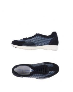 Низкие кеды и кроссовки ANTICA CUOIERIA. Цвет: темно-синий