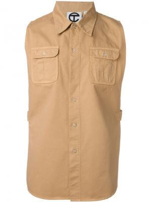 Рубашка сафари Telfar. Цвет: телесный