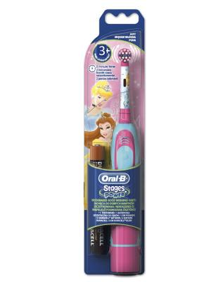 Электрическая зубная щётка ORAL-B Kids Принцесса для детей, батареечная ORAL_B. Цвет: розовый, салатовый