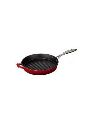 Сковорода LA CUISINE гриль 28см красная 7200. Цвет: красный