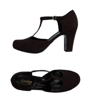 Туфли GENEVE. Цвет: темно-коричневый