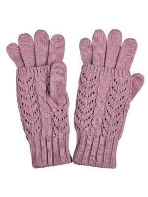 Перчатки Модные истории. Цвет: розовый