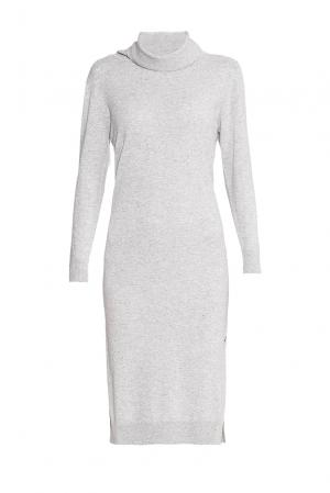 Кашемировое платье 172949 Andre Maurice. Цвет: серый
