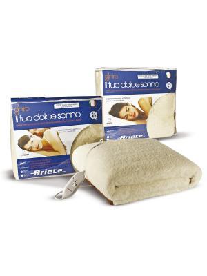 Электрические одеяла  Ariete . 60 X 2 Вт, двуспальное, 100% шерсть. Цвет: бежевый
