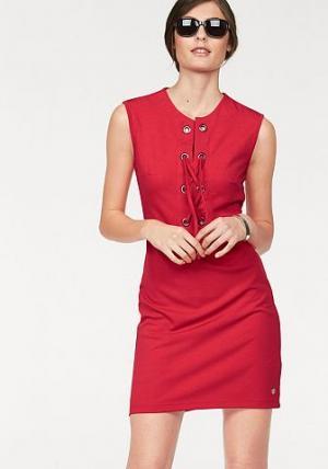Платье-футляр BRUNO BANANI. Цвет: светло-красный