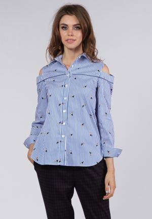 Рубашка OKS by Oksana Demchenko. Цвет: синий