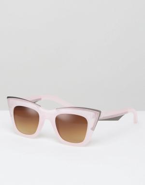 7X Солнцезащитные очки кошачий глаз. Цвет: розовый