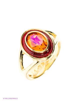 Кольцо Jenavi. Цвет: золотистый, оранжевый