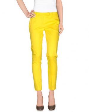 Повседневные брюки HOPE COLLECTION. Цвет: желтый