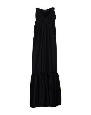Длинное платье NINEMINUTES. Цвет: черный