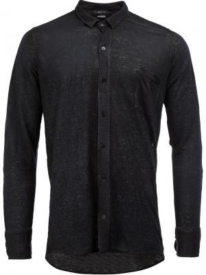 Классическая рубашка Avant Toi. Цвет: синий
