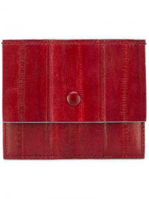 Кошелек для карт с откидным клапаном Corto Moltedo. Цвет: красный
