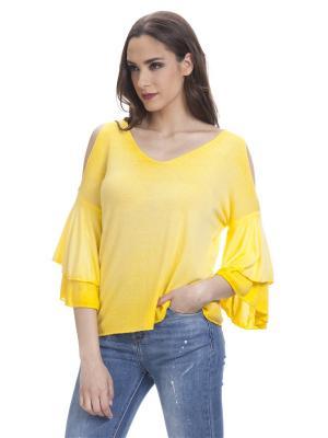 Блузка TANTRA. Цвет: желтый