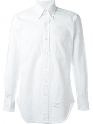 Рубашка с косым воротником Thom Browne. Цвет: белый