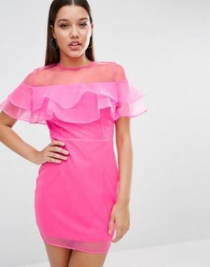 Rare Платье мини London. Цвет: розовый