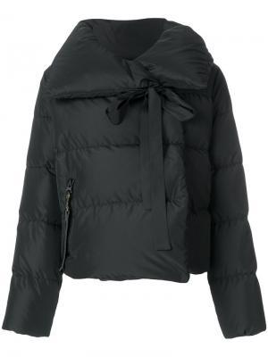 Пуховая куртка с большим воротником Bacon. Цвет: чёрный