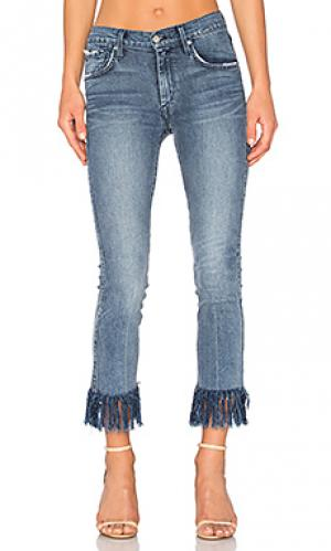 Прямые потрепанные брюки sneaker James Jeans. Цвет: none