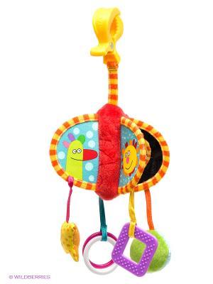 Погремушка Подвеска Kooky TAF TOYS. Цвет: желтый, малиновый, оранжевый