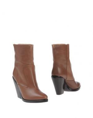 Полусапоги и высокие ботинки ALTIEBASSI. Цвет: хаки