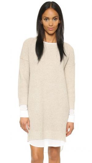 Многослойное платье Looker Brochu Walker. Цвет: песочный меланж/аполлон