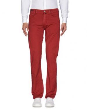 Повседневные брюки PT05. Цвет: красно-коричневый
