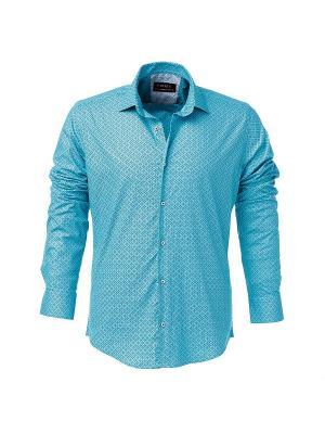 Рубашка BAWER. Цвет: светло-голубой