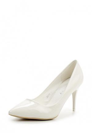Туфли Exquily. Цвет: белый