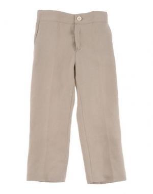 Повседневные брюки LA STUPENDERIA. Цвет: бежевый