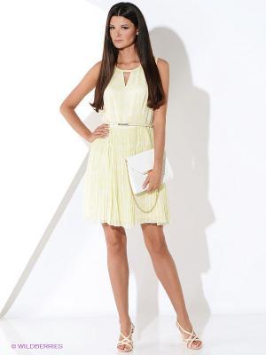 Платье Malvin. Цвет: светло-желтый