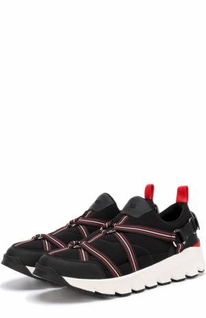 Комбинированные кроссовки с ремешками Dior. Цвет: черный