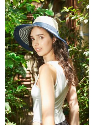 Шляпа Французская Ривьера Nothing but Love. Цвет: кремовый, синий