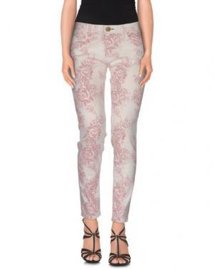 Джинсовые брюки SHINE. Цвет: белый