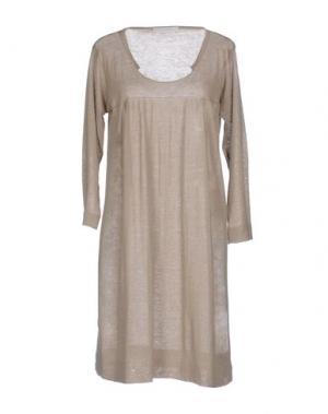 Короткое платье BP STUDIO. Цвет: светло-серый