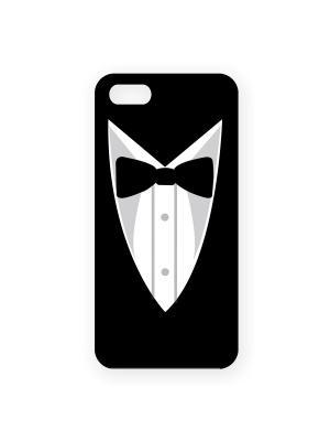 Чехол для IPhone 5 Пиджак и бабочка Mitya Veselkov. Цвет: черный