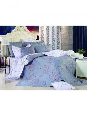 Комплект постельного белья ROMEO AND JULIET. Цвет: серый, красный, белый