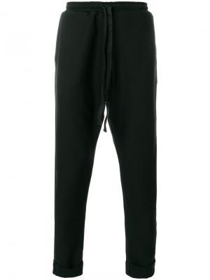Спортивные брюки с заниженным шаговым швом Alchemy. Цвет: чёрный