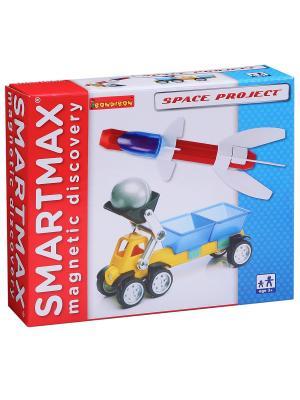 Магнитный конструктор SmartMax/ Bondibon набор: Космический  проект, арт. 211.. Цвет: белый, красный, синий