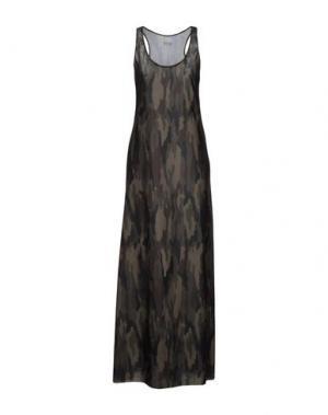 Длинное платье F**K PROJECT. Цвет: зеленый-милитари