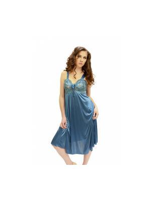 Сорочка ночная Belweiss. Цвет: серо-голубой